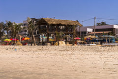 Beach in Gambia. View of the beach at the Atlantic Ocean in Gambia royalty free stock photos