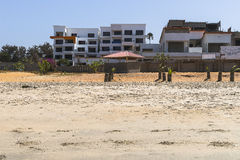 Beach in Gambia Stock Images