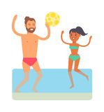 Beach games vector illustration. Royalty Free Stock Photography