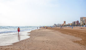 Beach of Gandia,Spain Stock Photos
