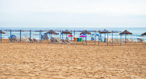 Beach of Gandia,Spain Royalty Free Stock Photo
