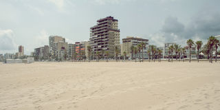 Beach of Gandia,Spain Stock Images