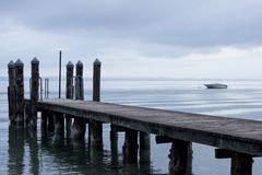 From the beach on Garda Lake royalty free stock photos
