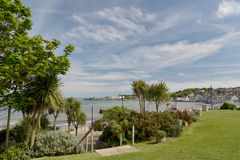 Beach gardens at Swanage Royalty Free Stock Photos
