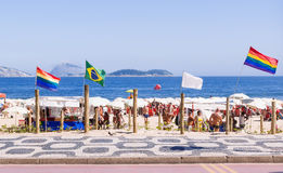 Beach for gays on Ipanema in Rio de Janeiro stock photography