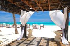 Beach gazebo Stock Photo