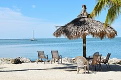 Beach Gazebo Stock Images