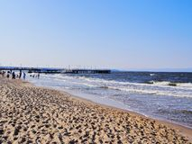 Beach in Gdansk Royalty Free Stock Image