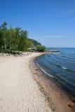 Beach in Gdynia at Baltic Sea in Poland Stock Photo