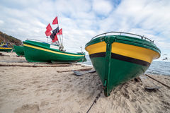 Beach in Gdynia Stock Image