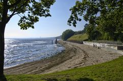 The beach in Gdynia Orlowo at Baltic Sea bay in Poland, Europe Stock Photo