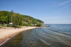Beach in Gdynia Orlowo Royalty Free Stock Photo