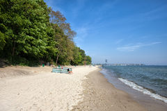 Beach in Gdynia Redlowo Royalty Free Stock Images