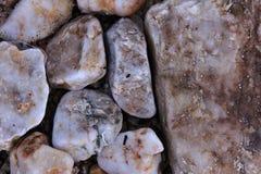Beach gem stones. On an italian beach Royalty Free Stock Images