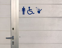 Beach Gents Bathroom Exterior Royalty Free Stock Images