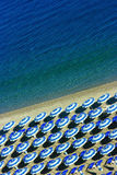 Beach geometry vertical Royalty Free Stock Photo