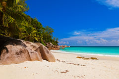 Beach Georgette at island Praslin - Seychelles Royalty Free Stock Images