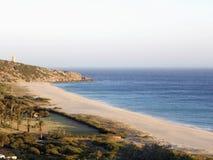 Beach of the germans atlanterra cadiz. Spain royalty free stock photo