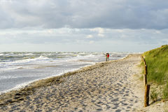 Beach in Germany at baltic sea Royalty Free Stock Photos