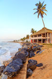 Beach in Ghana in the morning. Beach in Cape Coast, Ghana. In the morning Royalty Free Stock Images