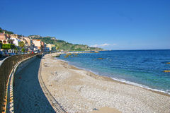 Beach of Giardini Naxos - Sicily Royalty Free Stock Photos