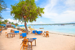 Beach in Gili island, Trawangan Royalty Free Stock Image