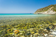 The beach at Giottani on west coast of Cap Corse Stock Photo