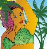 Beach girl Stock Images