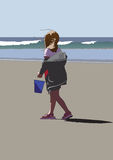Beach Girl stock illustration