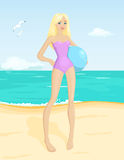 Beach girl Royalty Free Stock Images