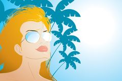 Beach Girl Royalty Free Stock Photo