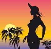 Beach girl. Artistic vector image beach girl Stock Photography