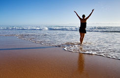 Beach Girl Stock Photography