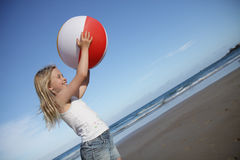 Beach girl. Royalty Free Stock Images