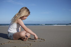 Beach girl. Stock Photos