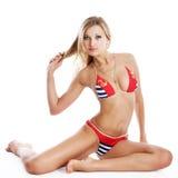 Beach girl in bikini Royalty Free Stock Image