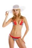 Beach girl in bikini Royalty Free Stock Photos