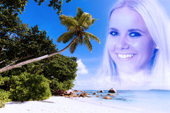 Beach girl - cool colored Royalty Free Stock Photography