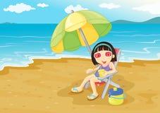 Beach girl Royalty Free Stock Photography