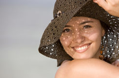 Beach girl portrait Royalty Free Stock Images