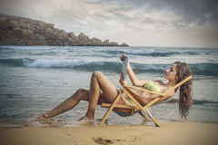 At the beach Stock Photography