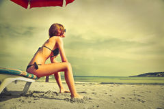 At the beach Royalty Free Stock Image