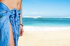 beach girl summer Στοκ Εικόνες