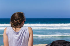Beach Girl Teenager Stock Image