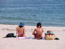 Beach girls Stock Photography