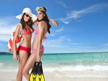 Beach Girls Stock Image