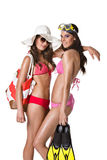 Beach girls Royalty Free Stock Image