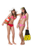 Beach girls Royalty Free Stock Photography