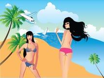 Beach Girls Royalty Free Stock Image