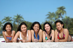 Beach Girls stock photos